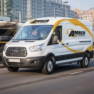 Amber Bale & Compact van.